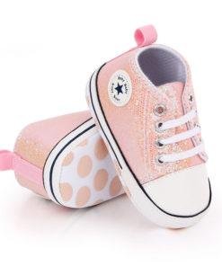 Chaussures bébé à paillettes pour petite fille rockeuse