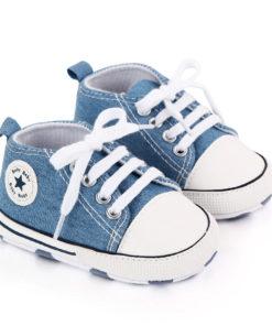 Chaussures rock pour bébé de couleur bleu jean