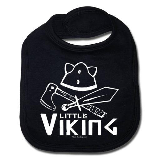 Bavoir petit viking noir pour bébé