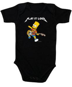 Body rock Bart Simpson et sa guitare pour bébé (noir)