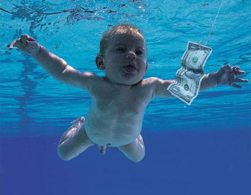 Photo du bébé sur la pochette de l'album Nevermind de Nirvana