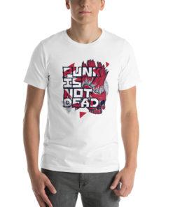 T-shirt Punk is not Dead blanc
