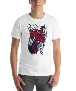 T-shirt je suis une Rock Star blanc
