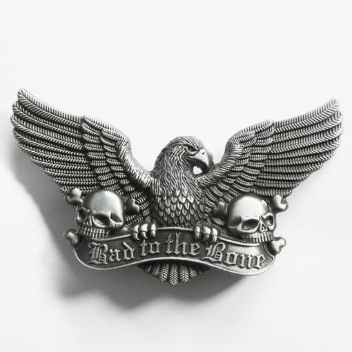 Boucle de ceinture Eagle Skulls