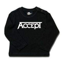 T-shirt bébé manches longues Accept (Logo)