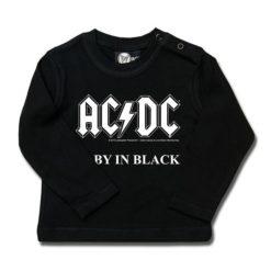 T-shirt bébé manches longues AC/DC (Baby in Black)
