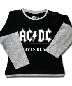 T-shirt Skate Bébé AC/DC Baby in Black