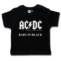 T-shirt bébé AC/DC (Baby in Black)