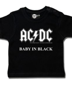 T-shirt bébé AC/DC (Baby in Black)