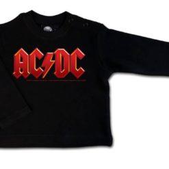 T-shirt bébé manches longues AC/DC (Logo, multi-col.)
