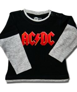 T-shirt skater bébé ACDC logo Rouge
