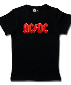 T-Shirt Fille AC/DC (Logo, multi-col.)