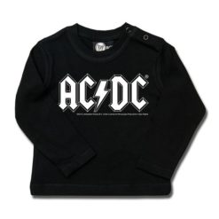 T-shirt bébé manches longues AC/DC (Logo, single-col.)