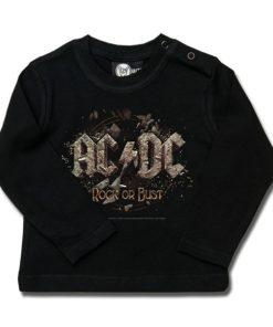 T-shirt bébé manches longues AC/DC (Rock or Bust)