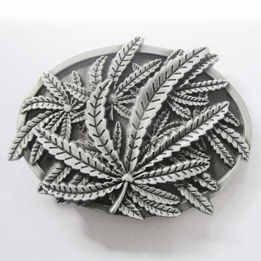 Boucle de ceinture feuilles de cannabis