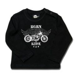 T-shirt bébé manches longues born to ride