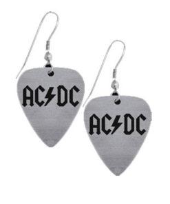 Boucles d'oreilles médiators ACDC