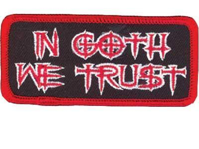 Patch IN GOTH WE TRUST