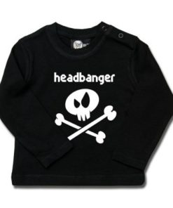 T-shirt bébé manches longues headbanger
