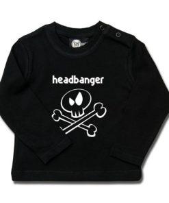 T-shirt bébé manches longues headbanger (invers)