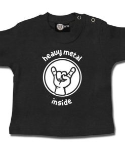 T-shirt bébé heavy metal inside