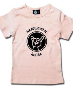 T-Shirt Fille heavy metal inside