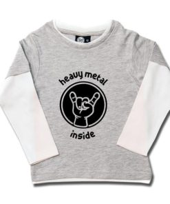 T-shirt skate enfant heavy metal inside
