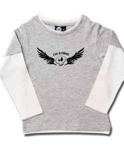 T-shirt skate enfant I'm a rebel
