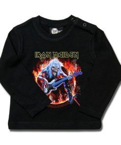 T-shirt bébé manches longues Iron Maiden (Fear Live Flame)