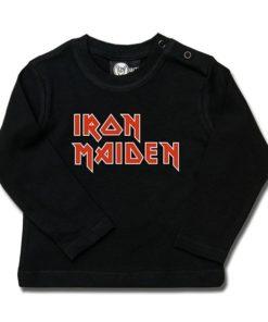 T-shirt bébé manches longues Iron Maiden (Logo)