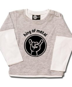T-shirt Skate Bébé king of metal