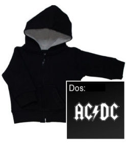 Veste zippée ACDC LOGO