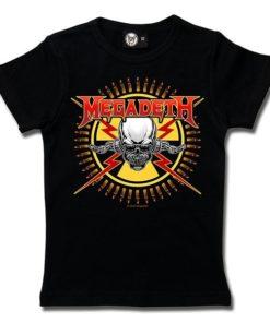 T-Shirt Fille MEGADETH (SKULL & BULLETS)
