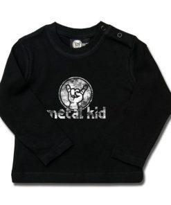 T-shirt bébé manches longues metal kid (Vintage)