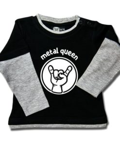 T-shirt Skate Bébé metal queen
