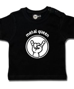 T-shirt bébé metal queen noir