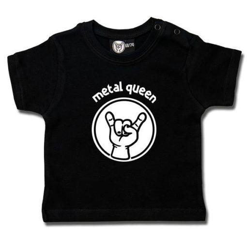 T-shirt bébé metal queen noir