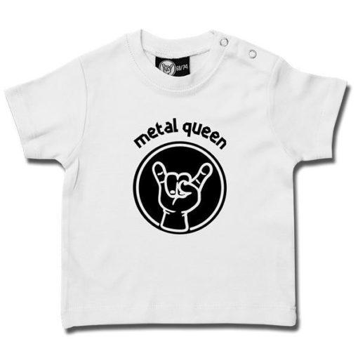 T-shirt bébé metal queen blanc