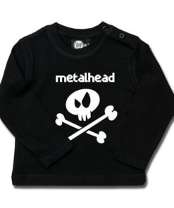 T-shirt bébé manches longues metalhead
