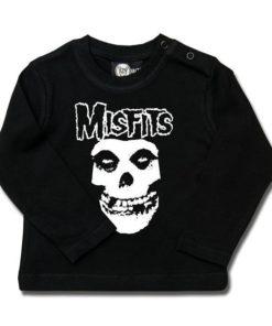 T-shirt bébé manches longues Misfits (Logo Skull)