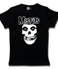 T-Shirt Fille Misfits (Logo Skull)