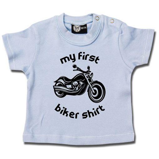 T-shirt bébé my first biker shirt