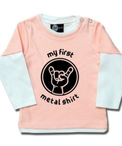 T-shirt Skate Bébé my first metal shirt