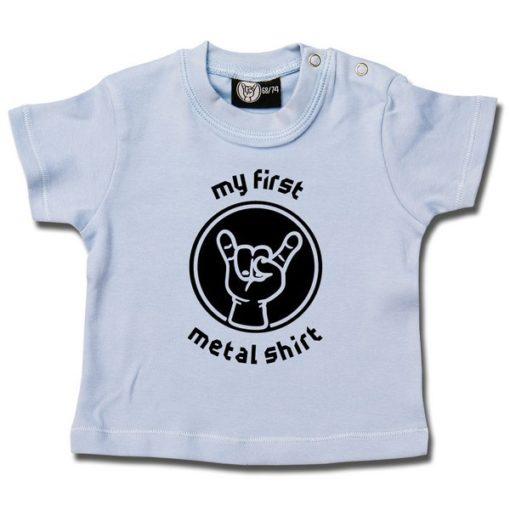 T-shirt bébé my first metal shirt