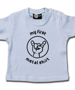 T-shirt bébé my first metal shirt (invers)