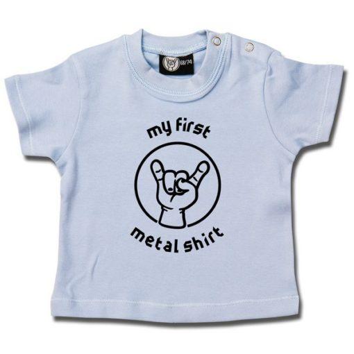 T-shirt bébé my first metal shirt (invers)