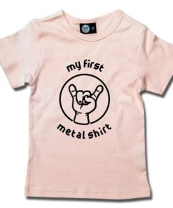 T-Shirt Fille my first metal shirt (invers)