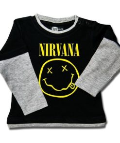 T-shirt Skate Bébé Nirvana (Smiley)