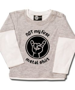 T-shirt Skate Bébé NOT my first metal shirt