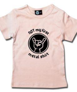 T-Shirt Fille NOT my first metal shirt